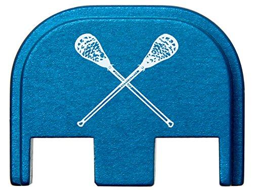 for Glock Gen 5 Rear Slide Cover Plate 9mm 17 19 19x 26 34 Blue Lacrosse Sticks Crossed by NDZ Performance (Image #2)