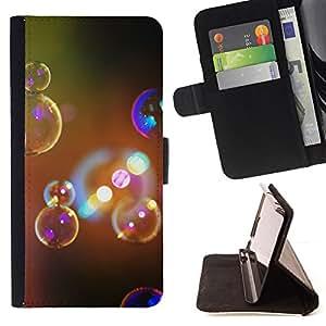 - GLITTER BATH BUBBLES ART PRISM LIGHT SOAP - - Prima caja de la PU billetera de cuero con ranuras para tarjetas, efectivo desmontable correa para l Funny HouseFOR Samsung Galaxy S5 V SM-G900