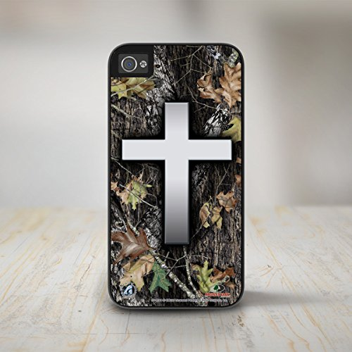 (Christian Cross Camo Phone Case Mossy Oak Break Up iPhone 5s Case, Camo iPhone 5 Case, Mossy Oak iPhone Case Protective Phone Case-50-8044)