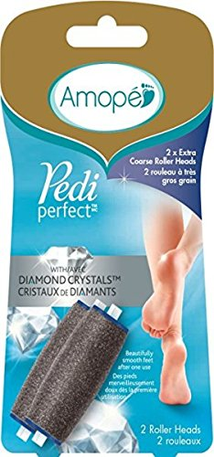 Amope Pedi Perfect - Electronic Foot File Extra Coarse Diamond Crystals Refills, 2 Count