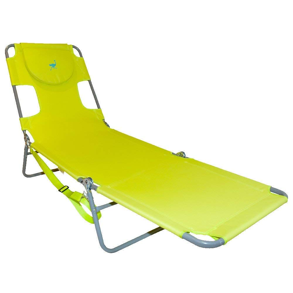Ostrich Chaise Lounge, Green (Renewed)