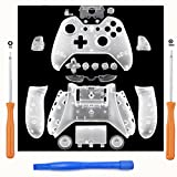 Cheap SN-RIGGOR Replacement Matte Clear Controller Housing Shell Full Set Faceplates Buttons for Xbox One Controller with 3.5 mm Jack Xbox One Controller Shell Kit with 3.5mm port