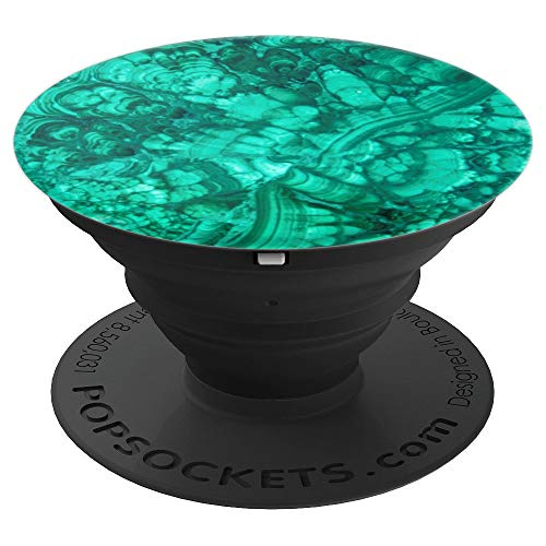 Malachite Faux Stone Look Pop Socket - PopSockets Grip and Stand for Phones and Tablets