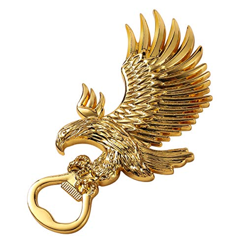 Star Miss River Solid Metal Patriotic American Bald Eagle Magnetic Beer Bottle Opener, Powerful Fridge Magnets, Unique Birthday Gifts for Men Fathers Dad Husband Boyfriend Him Best Friends