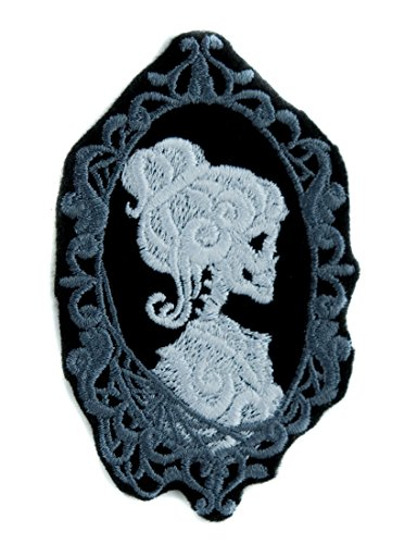 Haunted Mansion Her Cameo Skeleton Halloween Patch Iron on Applique Alternative Clothing -