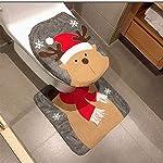 HESHIFENG. party & accessories Decorazioni di Natale Babbo Natale, pupazzo di neve, Cervo coperchio rivestimento e tappeto bagno Set WC Sedile WC con absenkautomatik gioielli di Natale Deer