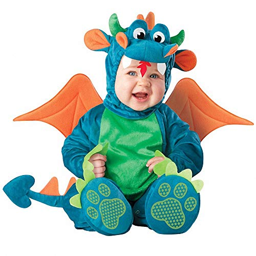 Halloween Costumes for Baby Boys Girls,Infant Toddler Kids Baby Dinky Dragon Dinosaur Dress Up Costume Outfit Romper -