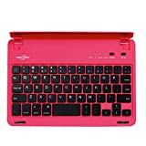 BATTOP Ultra-Thin Bluetooth Keyboard with Stand for iPad Mini 3 / iPad mini 2 / iPad mini 110 Degree Swivel Rotating Auto Sleep/Wake - Pink