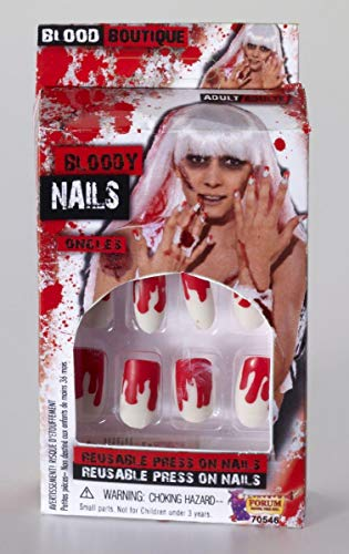 Forum Novelties Women's Novelty Bloody Nails, White/Red, One -