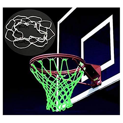 caxmtu aro de baloncesto neto Red de nailon de repuesto de brilla en la oscuridad al aire libre