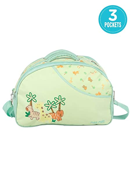 Mee Mee Diaper Bag (With Removable Shoulder Straps, Green)