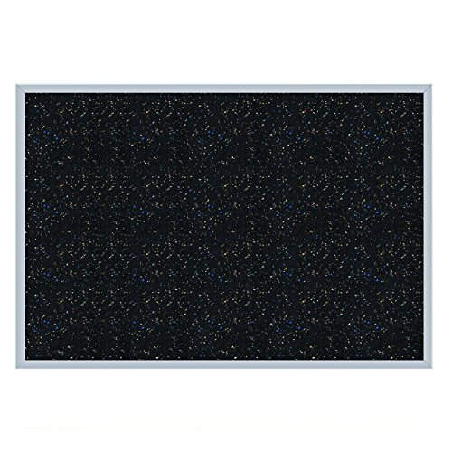 """Ghent 36.0"""" x 46.5"""" Aluminum Frame Recycled Rubber Bulletin Board, Confetti, Made in the USA from Ghent"""