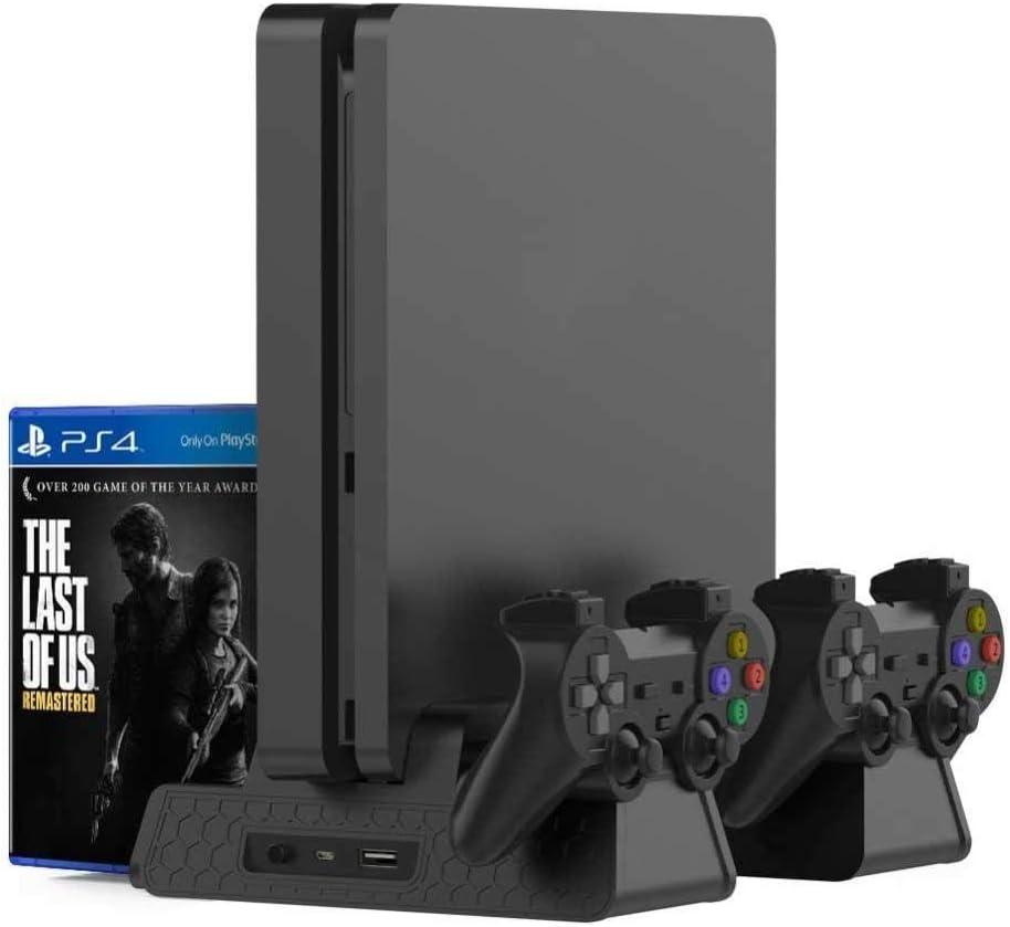 Teepao Ventilador para PS4/PS4 Slim/PS4 Pro Soporte, Vertical con ...