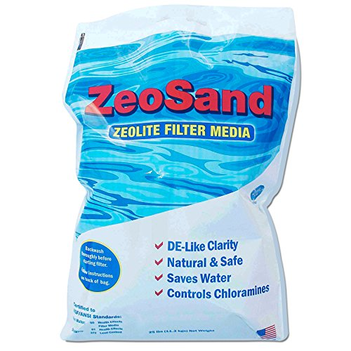 ZeoSand Swimming Pool Sand Replacement, Alternative Filter Media, 50lbs