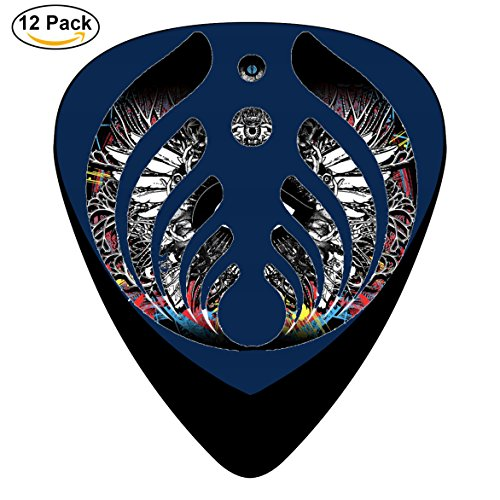 Bass-nectar band Guitar Picks 12-Pack Celluloid Paddles Plectrums 0.46mm/ 0.71mm/ 0.96mm for Fashion Customized Guitar Bass Musical - Band Nectar
