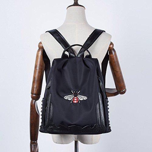 BOYATU mochila ligera para las mujeres y los hombres Bolsa de viaje grande escuela bolsa de hombro (negro-02) Negro-02