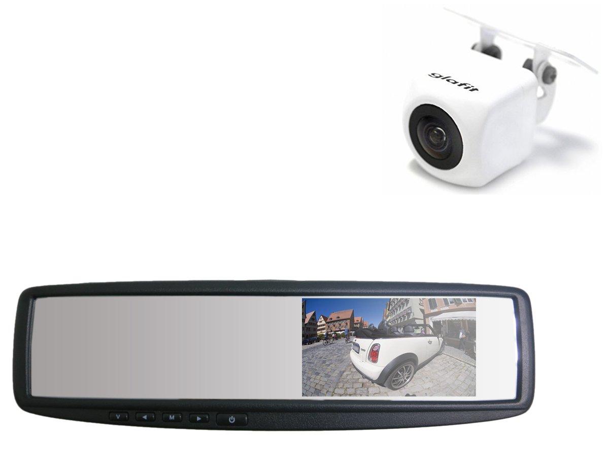ミラーモニター バックカメラ セット CMOS 白 汎用 【保証期間6ヶ月】 B01485GR2M