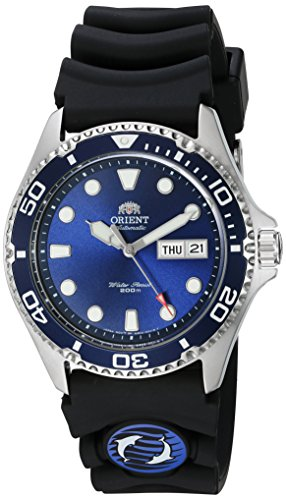 Orient Men's 'Ray II Rubber' Japanese Automatic Stainless Steel Diving Watch, Color:Silver-Toned (Model: ()
