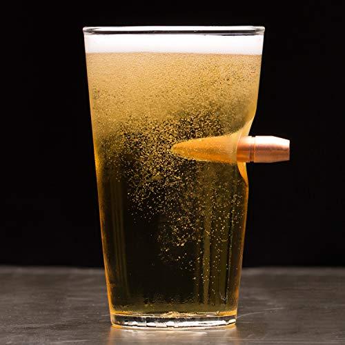 Lucky Shot .50 Cal Real Bullet Handmade Pint Glass - Set of 4 by Lucky Shot (Image #4)