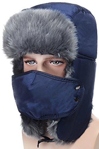 Odema Extra-thick Plush Men Women Winter Trapper Trooper Hunting Ushanka Ear Flap Hat