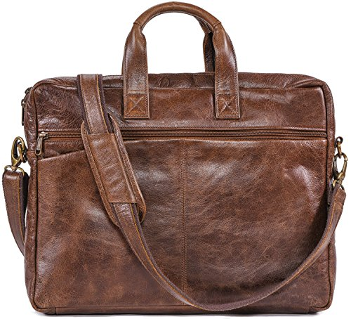 - The Aartisan Genuine Full Leather Laptop Briefcase Bag for men