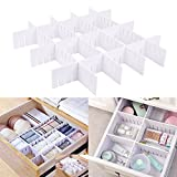 E-BAYKER Drawer Organizer, Drawer Dividers, DIY Arbitrary Splicing Sub-grid Household Storage Spacer Finishing Shelves for Home Tidy Closet & Desk Makeup Socks Underwear Scarves-2.8x18.5in (7 Pack)