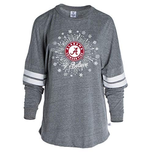 Official NCAA Alabama Crimson Tide Women's Striped Oversized Football Tee