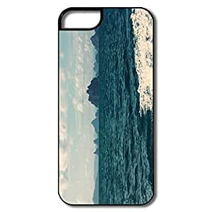 IPhone 5 Cases, Sea Walk Case For IPhone 5S - White/black Hard Plastic wangjiang maoyi