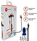 Motorola VerveLoop HD Wireless - Sweat & Water Resistant Stereo Earbuds ' Siri & Google' Compatible -W Extra Ear Gel + Car Charger (Retail Packing Kit)
