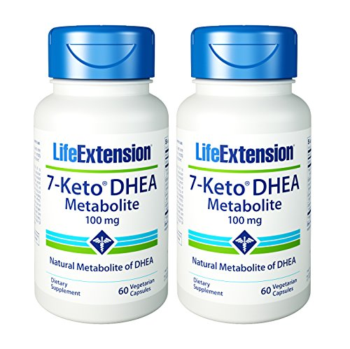 Life Extension 7-Keto DHEA 100 Mg, 60 vegetarian capsules (120)