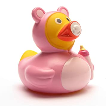 Quietsche-Ente Quietscheente Badeente Bath Duck rosa pink