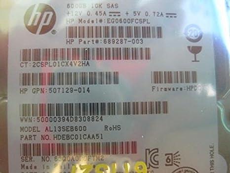 Dual Port Ente 2.5-inch HP 600GB 6G SAS 10K RPM SFF HP EG0600FCHHU-X Incoming