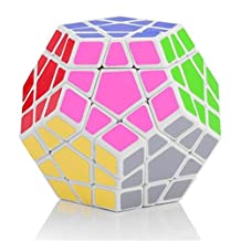 Ennrui White Megaminx 5x5 Puzzle Magic Cube Toy Dodecahedron magic Cube special toys