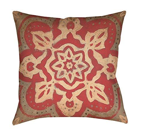 Thumbprintz Square Throw Pillow, 16-Inch, Medallion, Gold