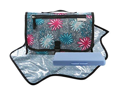 Portátil para pañales bolso cambiador plegable con caja de papel... azul azul muilty