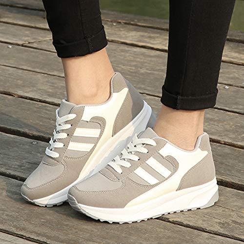 Gris de Gym Fitness Baskets Femme Décontractée wealsex Sneaker Plateforme Choc Running Sport Anti Chaussures Marche wI6nqPaU