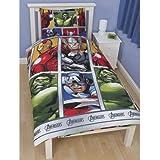 Childrens/Kids Marvel Avengers Assemble Reversible Quilt/Duvet Cover Bedding Set (Single Bed) (Multi Coloured)