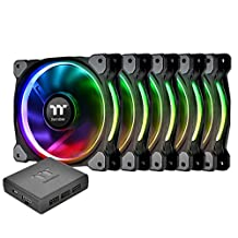 Thermaltake CL-F057-PL14SW-A Riing Plus 14 RGB TT Premium Edition 140mm Software Enabled Circular 12 Controllable Led Ring Case/Radiator Fan
