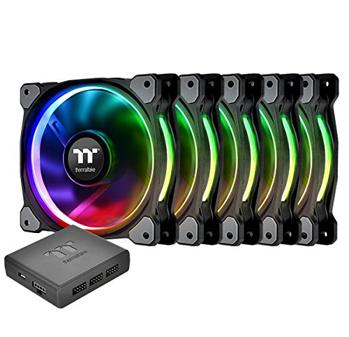 Thermaltake Riing Plus 12 RGB TT 48.34 CFM 120 mm Fans 5-Pack