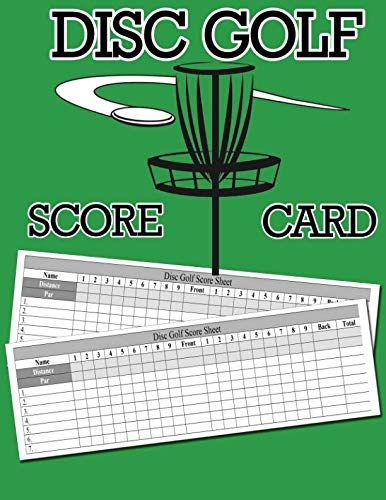 - Disc Golf Score Card: 100 Sheets Golf Score Keeper, Golf Notebook, Golf Scorebook