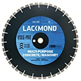 Lackmond USEG-Pro Wet/Dry General Purpose Saw Blade - 14'' Multi Surface Cutting Tool with U-Notch Segment for Fast Clean Cuts & 1'' - 20mm Arbor - US141251PRO