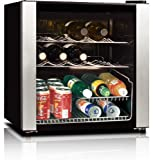 midea WHS-64W 16-Bottle Wine Cooler, Stainless Steel For Sale