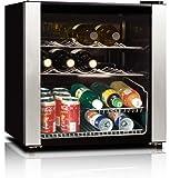 midea WHS-64W 16-Bottle Wine Cooler, Stainless Steel