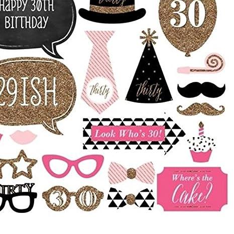 Cartulinas para photocall 30 cumpleaños 20 und: Amazon.es: Hogar