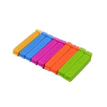ZWANDP Bunte versiegelte Ordner Kunststoff Lebensmittel Lagerung versiegelt Tasche Ordner K/üche Werkzeuge Snack Ordner 12 Sets