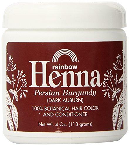 Rainbow Research Henna Hair Color and Conditioner, Persian Burgundy Dark Auburn, 4 Ounce
