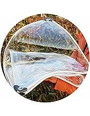 Helder Waterdicht Transparant Zeil Stofdicht Regendicht Zeildoek met Doorvoertules UV-bestendig voor Plant Zonnekamer Patio 24 Maten AWSAD