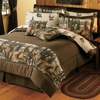 Amazon Com Whitetail Dreams Queen Comforter Set Home