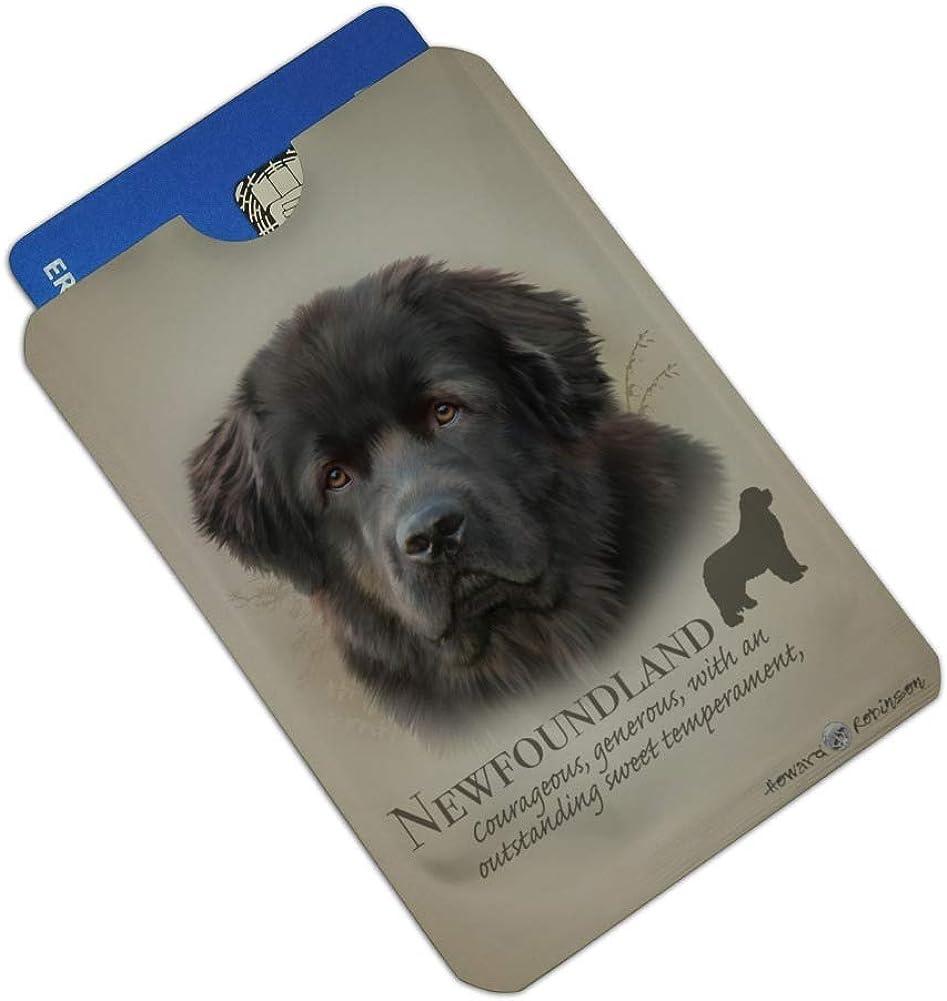 Newfoundland Dog Breed Credit Card RFID Blocker Holder Protector Wallet Purse Sleeves Set of 4