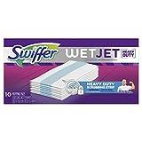 Swiffer WetJet Hardwood Floor Cleaner Spray Mop Pad Refill, Heavy Duty, 10 Count